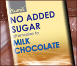 No Added Sugar alternative to milk chocolate