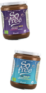 Plamil organic chocolate spreads